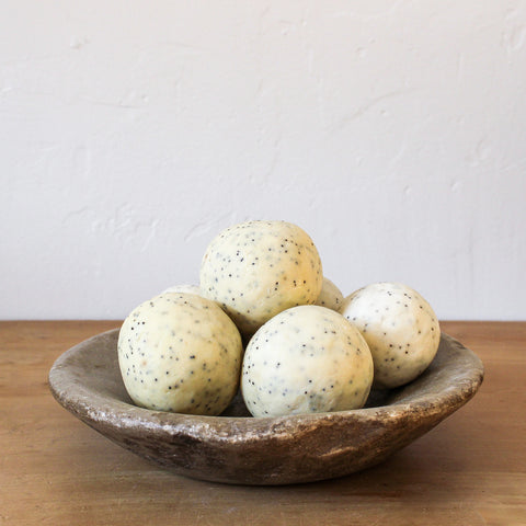 Large Soap Ball Lemon Lime Poppy Seed