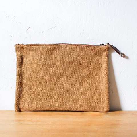 Woven Waxed Jute Pouch Large
