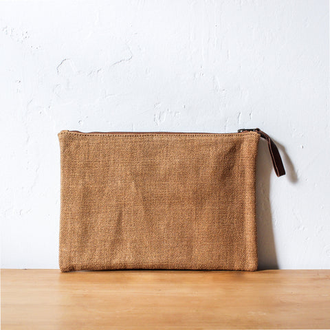 Woven Waxed Jute Pouch Small