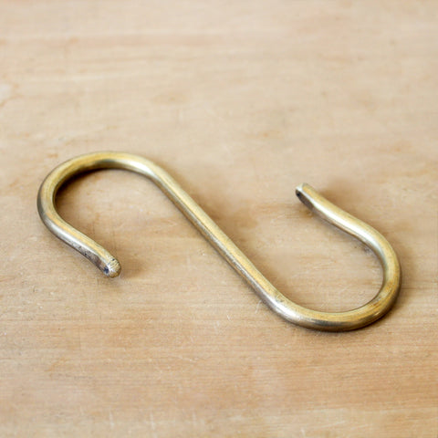 S Hook Brass