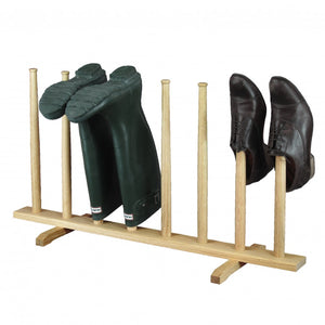 Boot Stand 4 Pair Oak