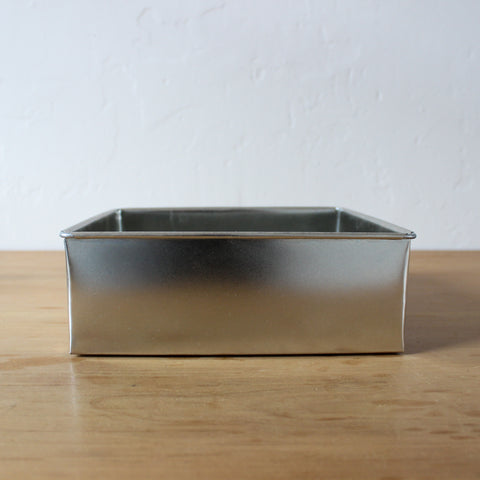 "8"" Square Tin 3"" High"