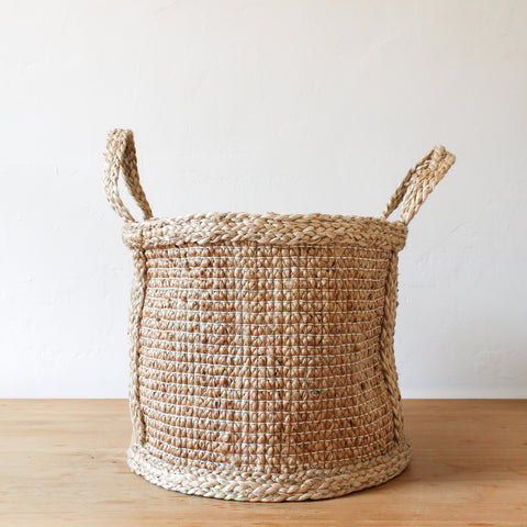 Jute Basket Hatched Weave Medium
