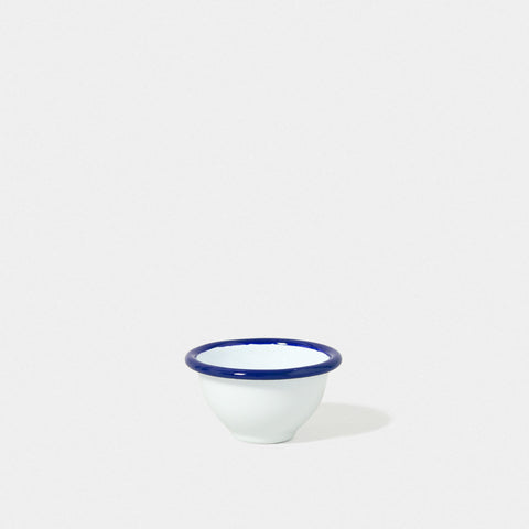 Enamel Pinch Pot White