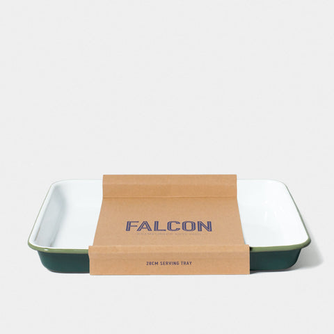 Enamel Serving Tray Samphire Green