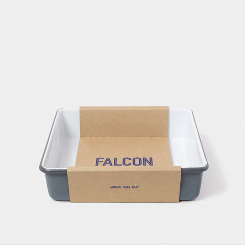 Enamel Square Bake Tray Pigeon Grey