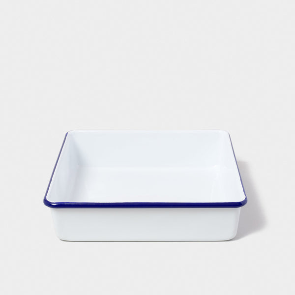 Enamel Square Bake Tray White