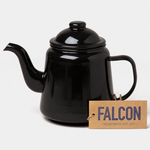 Enamel Teapot Coal Black