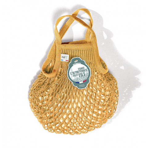 French String Bag Petit Jaune Gold