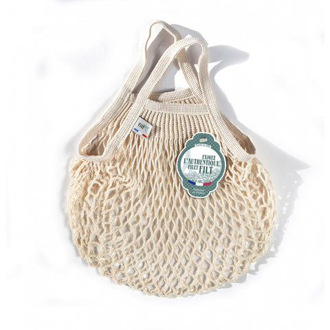 French String Bag Petit Ecru Bio