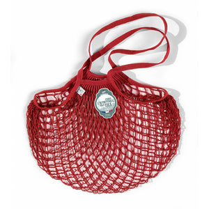 French String Bag Long Handle Rouge