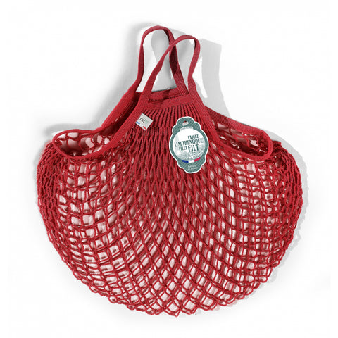French String Bag Short Handle Rouge
