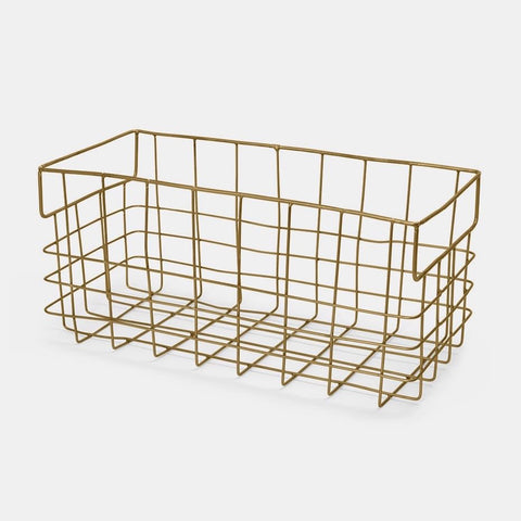 Brass Wire Basket Large