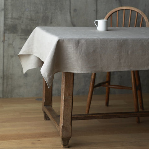 Linen Tablecloth Large Natural