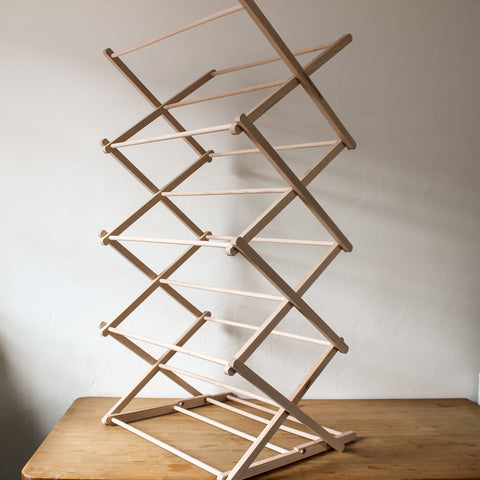 Folding Clothes Horse Beechwood