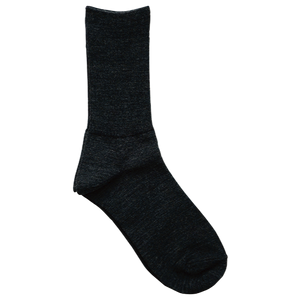 Merino Wool Ribbed Sock Charcoal Small