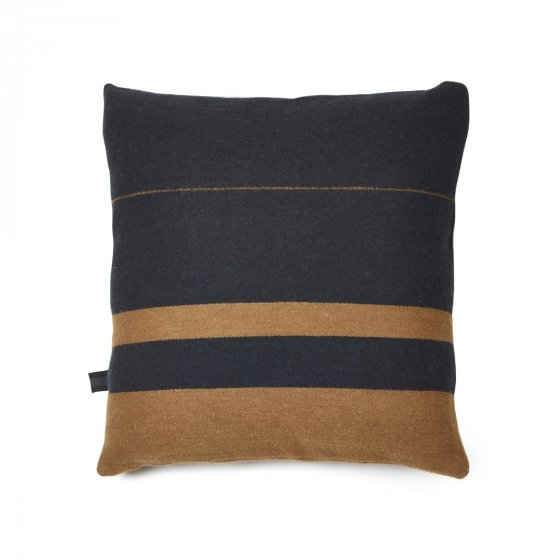 Oscar Cushion Black Stripe 63cm x 63cm