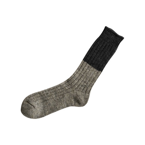 Boston Wool Cotton Slab Sock Charcoal Large