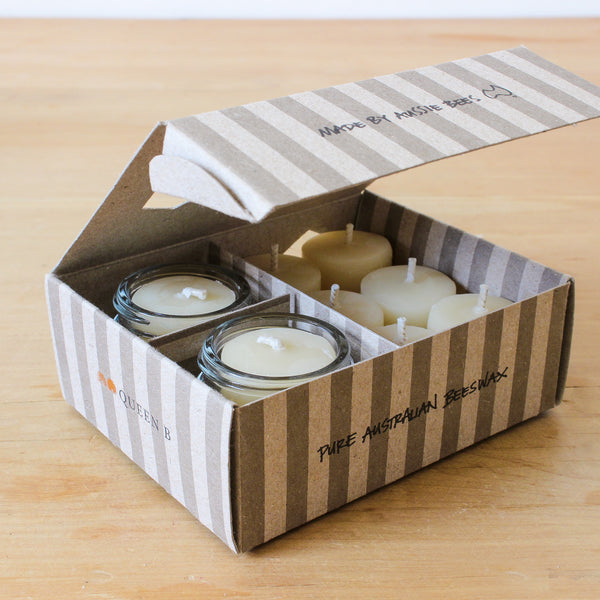 Boxed Jam Jar Tealights - 2 Jars & 8 Candles