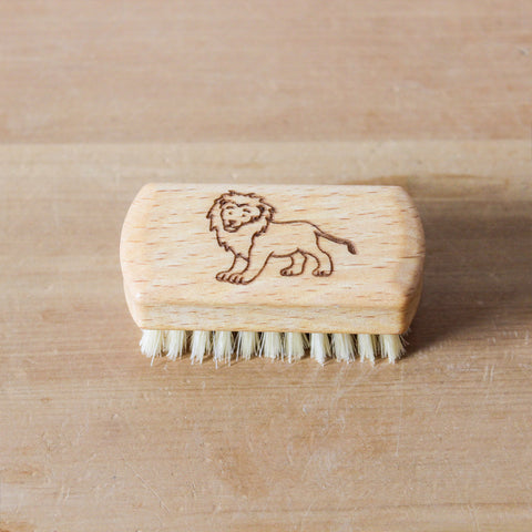 Childrens Nail Brush Lion