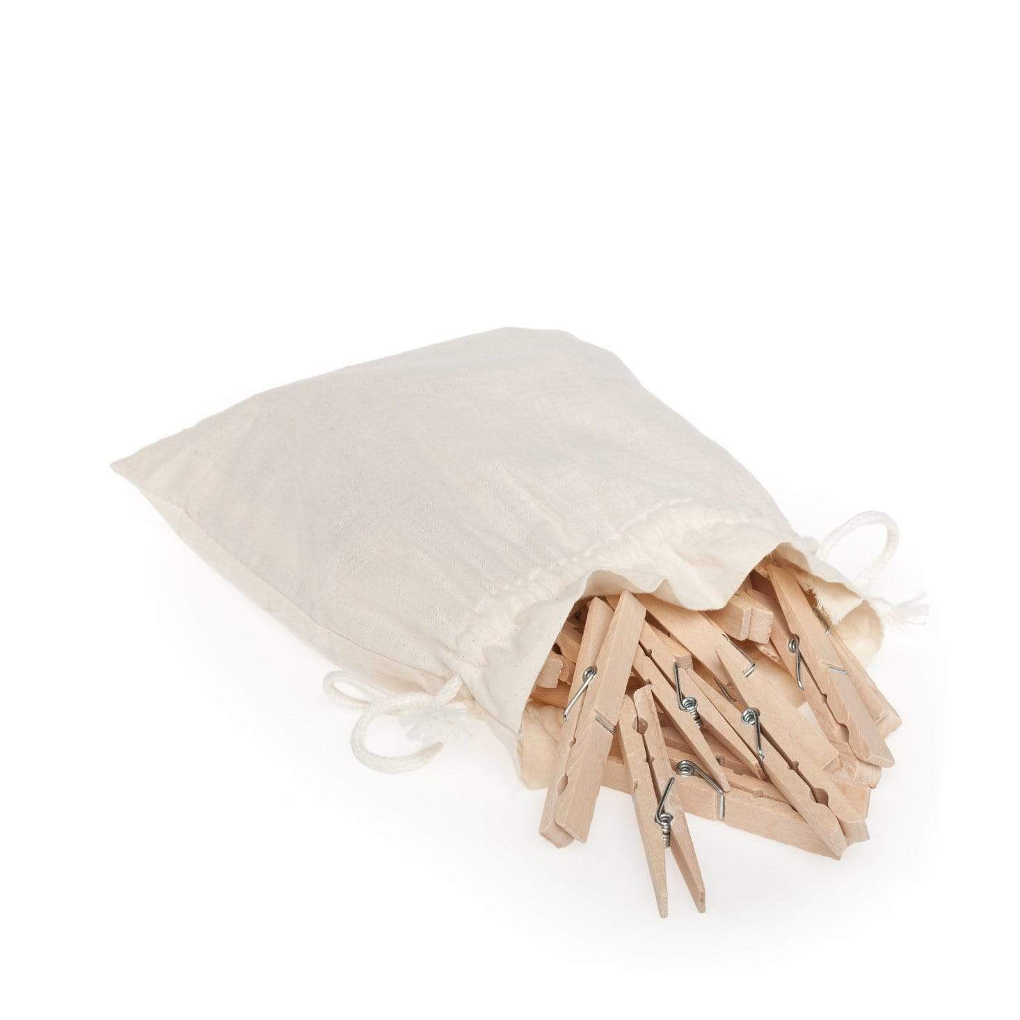 Clothes Pegs in Cotton Bag