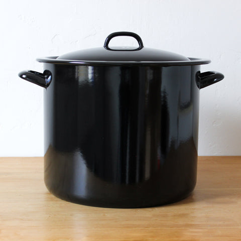 Classic High Casserole with Cover Black 20 Litre