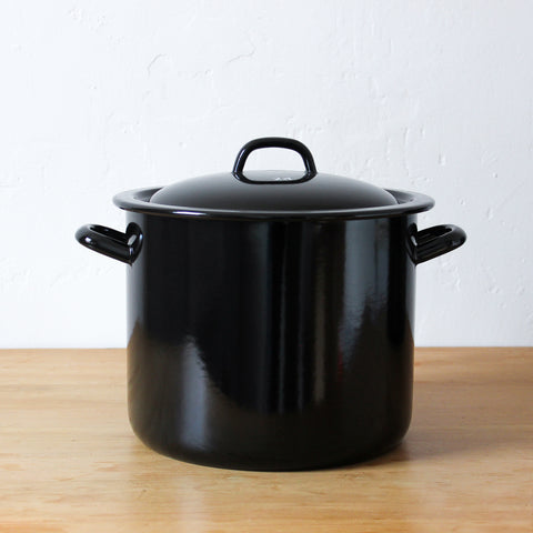 Classic High Casserole with Lid Black 8 Litre