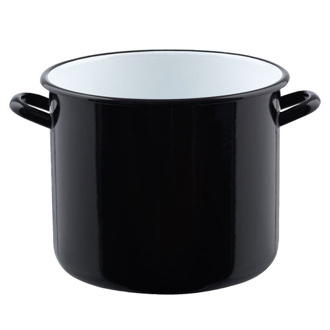 Classic High Casserole with Cover Black 12 Litre