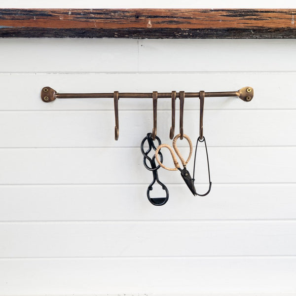 Chandler Rack Antiqued Brass