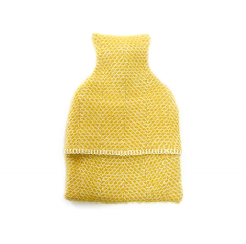 Hot Water Bottle Cover Beehive Yellow
