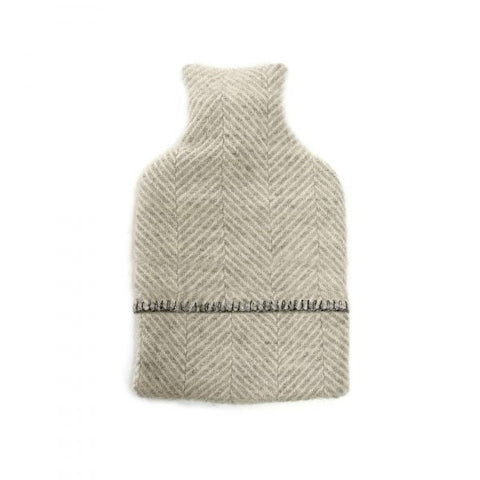 Hot Water Bottle Cover Fishbone Silver