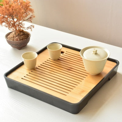 Japanese Table Tea Set w/ Water Drainage