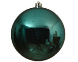 Plain shiny 14cm shatterproof bauble