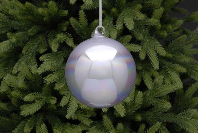 12cm Lilac Holographic Glass Ball