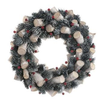 36cm Red Berry and Stick Wreath