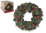 36cm Red Berry and Apple Wreath