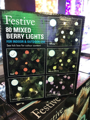 80 Mixed Berry Lights - Red