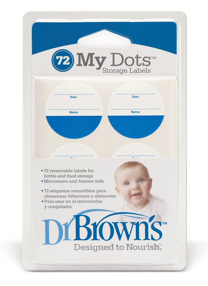 Dr Brown's My Dots Storage Labels - 72 Pieces