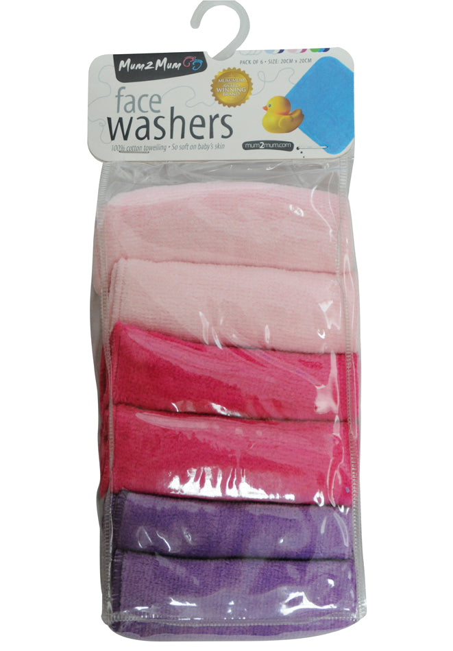 Mum 2 Mum Face Washers - Candy Pack