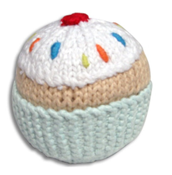 Pebble Cupcake Rattle - Turquiose