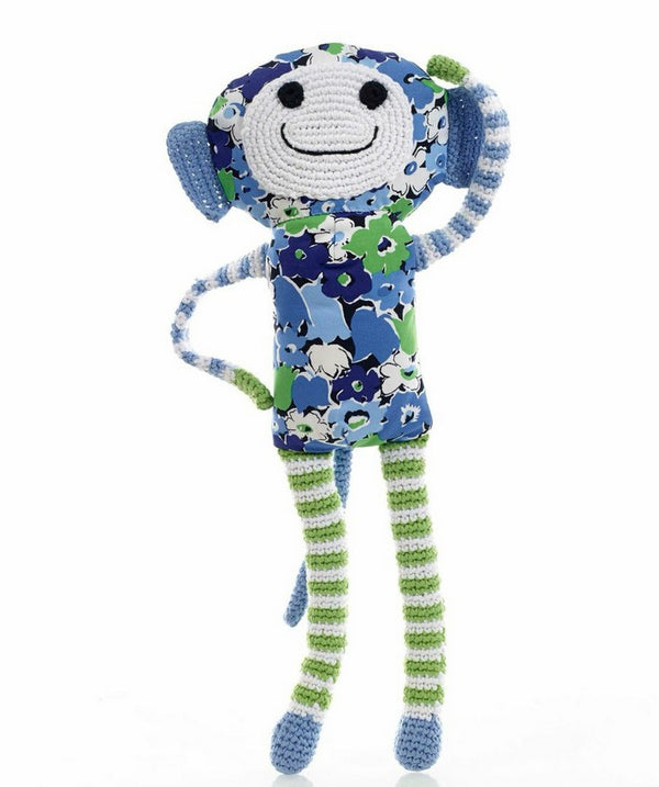 Pebble: Flower Monkey - Blue