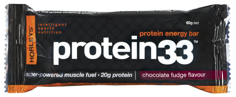 Horleys Protein 33 Muscle Bars - Chocolate Fudge (Box of 12)