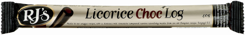 RJ's Licorice Choc Single Logs 40g (30 Pack)