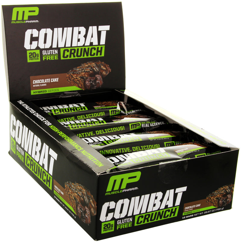 MusclePharm Combat Crunch Bars - Chocolate Cake (Box of 12)