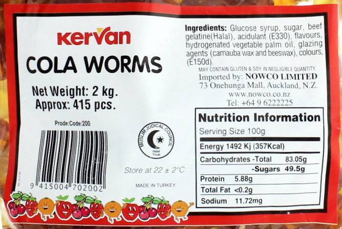 Kervan Cola Worms Bulk Bag 2kg