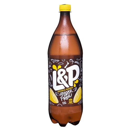 Lemon & Paeroa Soft Drink Sugar Free 1.5l (8 Pack)