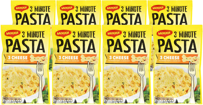 Maggi 3 Minute Three Cheese Pasta 70g (8 Pack)
