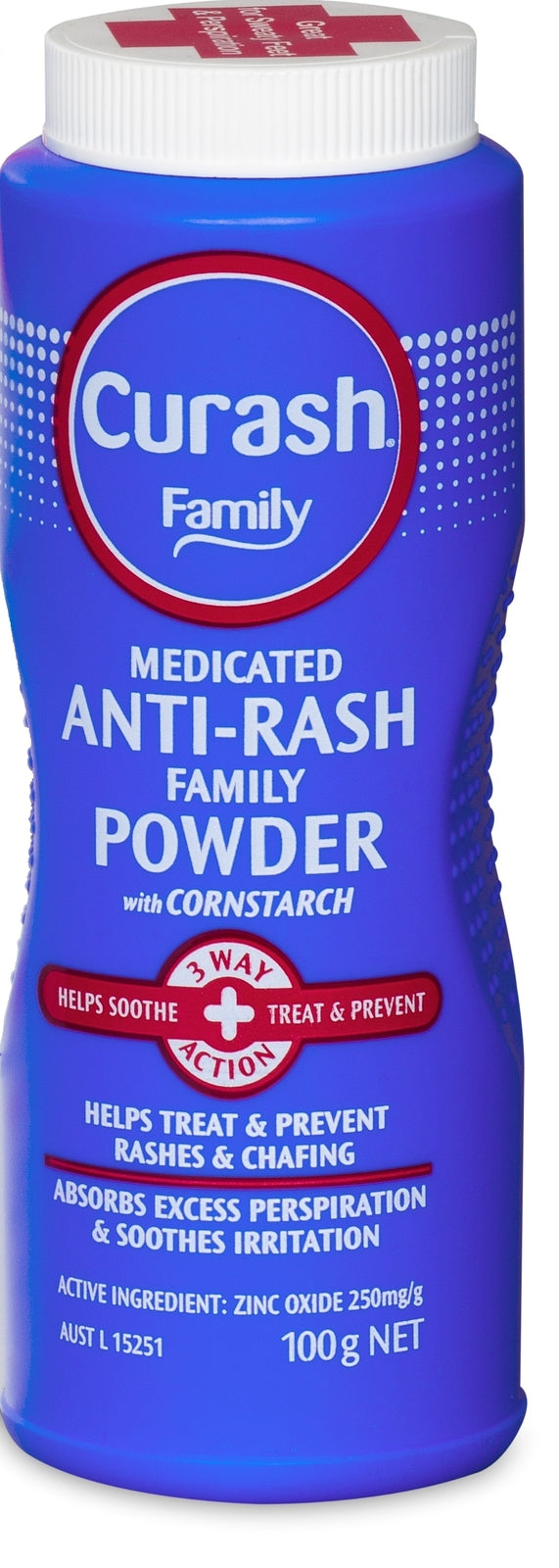Curash Family Medicated Anti-Rash Family Powder - 100g