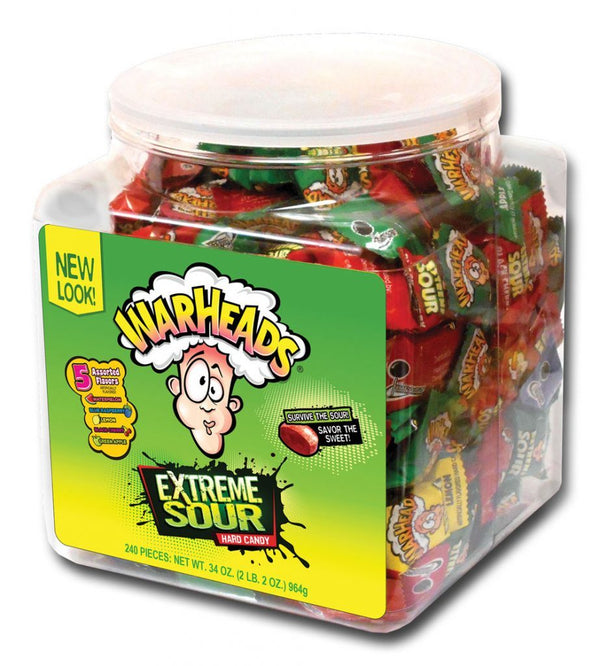 Warheads Extreme Sour Hard Candy Tub 964g