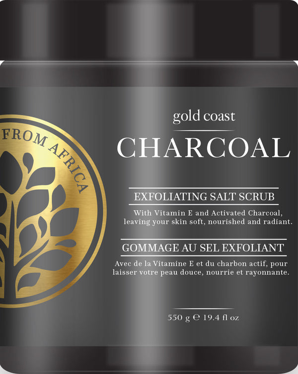 Gold Coast Charcoal Salt Scrub (550gm)